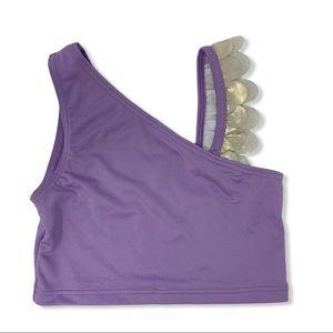 Harper Canyon light purple ruffle shoulder top 6